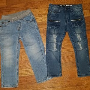 2 pairs of boys jeans